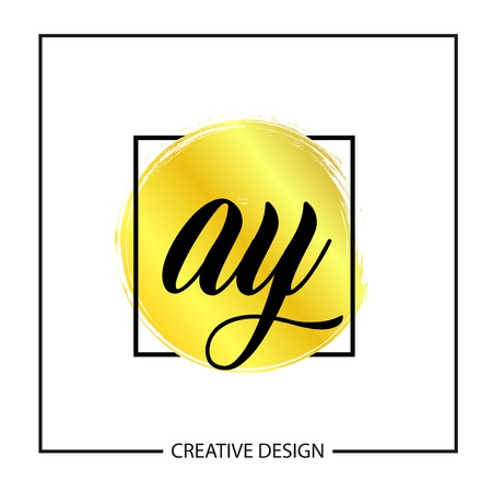 Initial Letter AY Logo Template Design Vector Illustration Stock Vector - 113336035