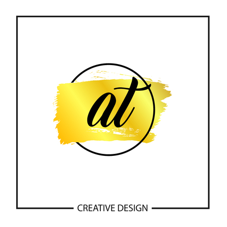 Initial Letter AT Logo Template Design Vector Illustration
