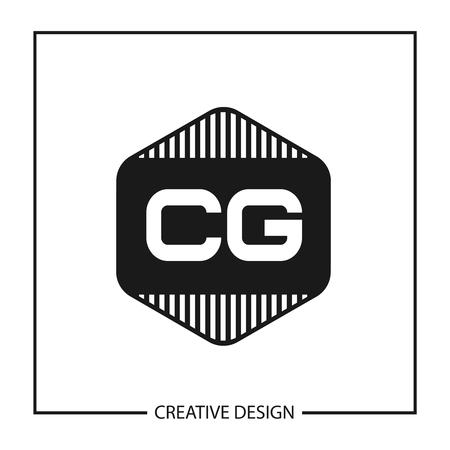 Initial Letter CG Logo Template Design Vector Illustration Logo