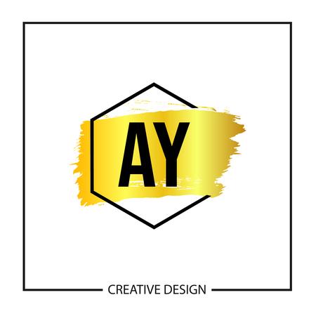 Initial Letter AY Logo Template Design Vector Illustration Stock Vector - 113336544