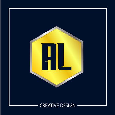 Initial Letter AL Logo Template Design Vector Illustration