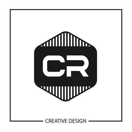 Initial Letter CR Logo Template Design Vector Illustration Logó