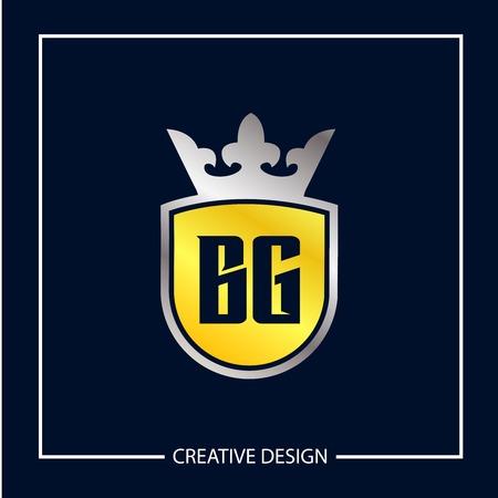 Initial Letter BG Logo Template Design Vector Illustration Иллюстрация