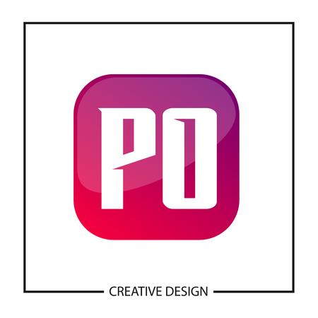 Initial Letter PO Logo Template Design Vector Illustration