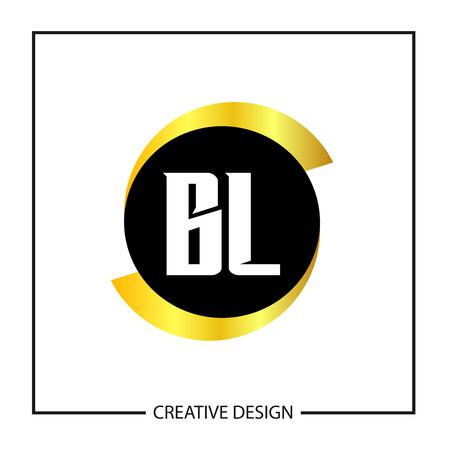 Initial Letter BL Logo Template Design Vector Illustration Ilustração