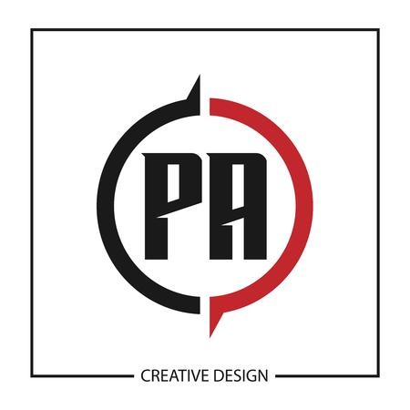 Initial Letter PA Logo Template Design Vector Illustration