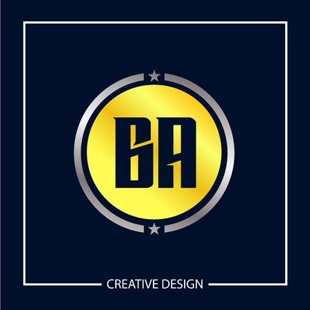 Initial Letter BA Logo Template Design Vector Illustration Ilustração