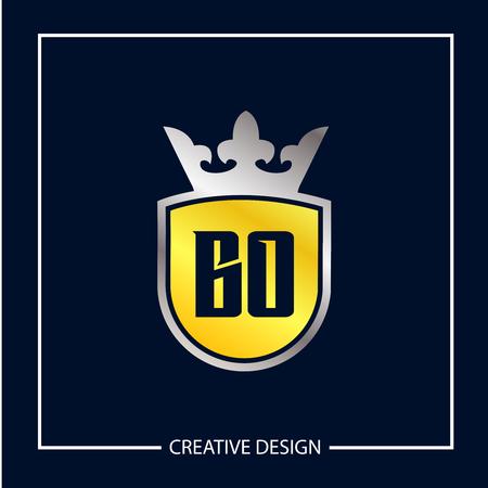 Initial Letter BO Logo Template Design Vector Illustration 向量圖像