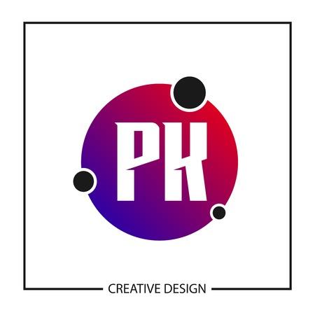 Initial Letter PK Logo Template Design Vector Illustration