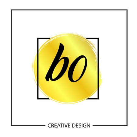 Initial Letter BO Logo Template Design Vector Illustration Çizim