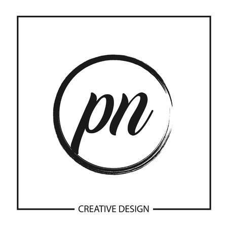 Initial Letter PN Logo Template Design Vector Illustration Vectores