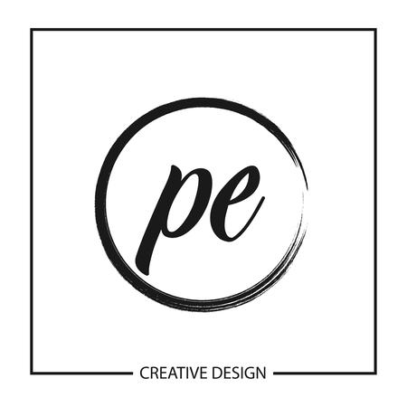 Initial Letter PE Logo Template Design Vector Illustration Logo