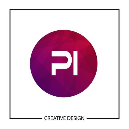 Initial Letter PI Logo Template Design Vector Illustration