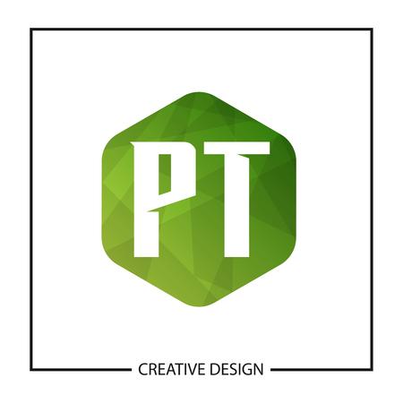 Initial Letter PT Logo Template Design Vector Illustration