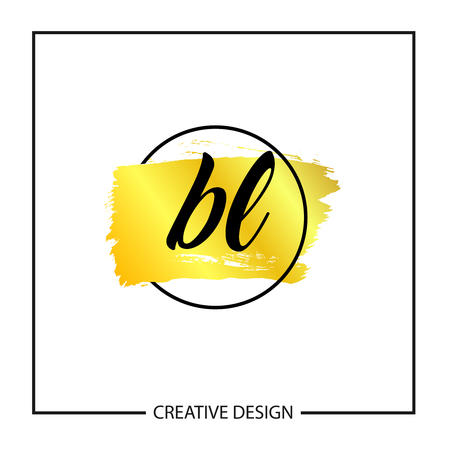 Initial Letter BL Logo Template Design Vector Illustration Illustration