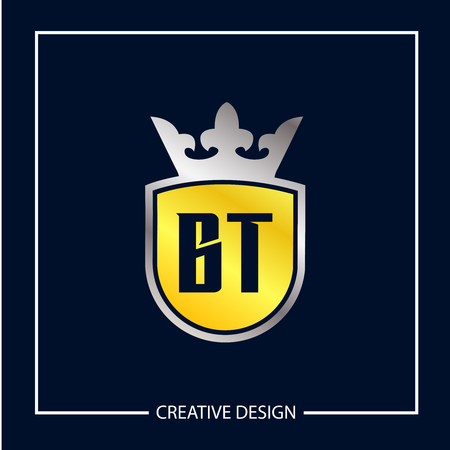 Initial Letter BT Logo Template Design Vector Illustration