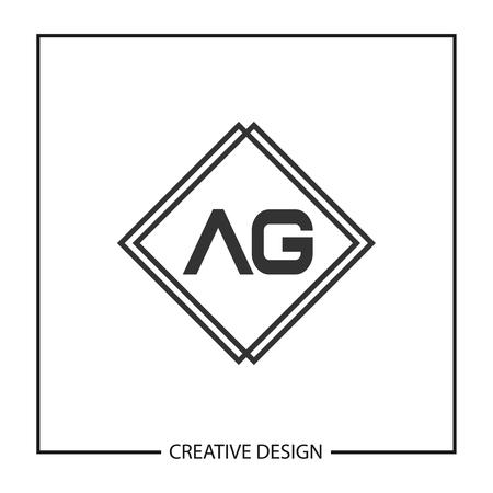 Initial Letter AG Logo Template Design Vector Illustration