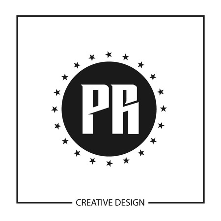 Initial Letter PR Logo Template Design Vector Illustration