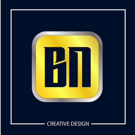 Initial Letter BN Logo Template Design Vector Illustration Logó