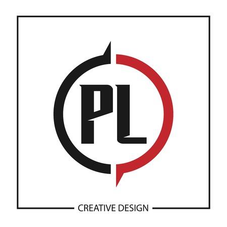 Initial Letter PL Logo Template Design Vector Illustration Stock Vector - 113336704