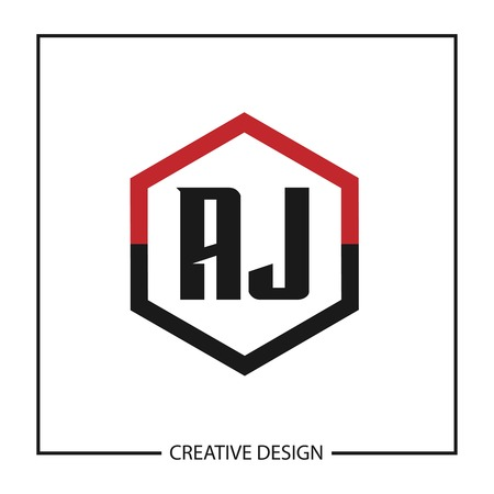Initial Letter AJ Logo Template Design Vector Illustration Illustration
