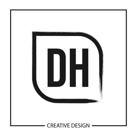 Initial Letter DH Logo Template Design Vector Illustration