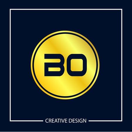 Initial Letter BO Logo Template Design Vector Illustration Çizim