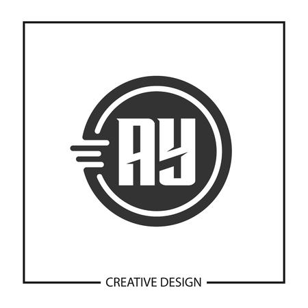 Initial Letter AY Logo Template Design Vector Illustration Stock Vector - 113336181