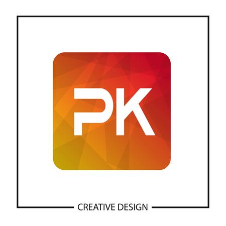 Initial Letter PK Logo Template Design Vector Illustration Logó