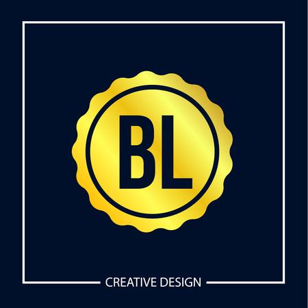 Initial Letter BL Logo Template Design Vector Illustration