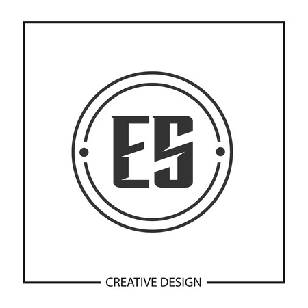 Initial Letter ES Logo Template Design Vector Illustration