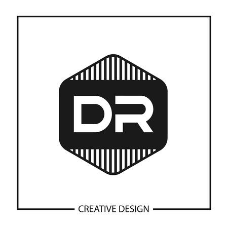 Initial Letter DR Logo Template Design Vector Illustration Logó