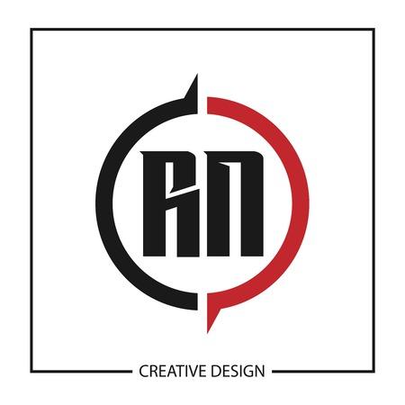 Initial Letter RN Logo Template Design Vector Illustration Logo