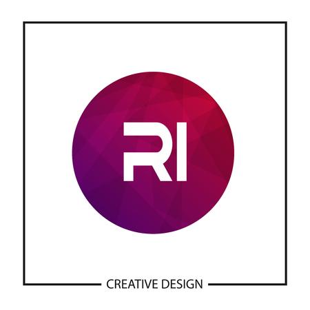 Initial Letter RI Logo Template Design Vector Illustration Stock fotó - 113333388