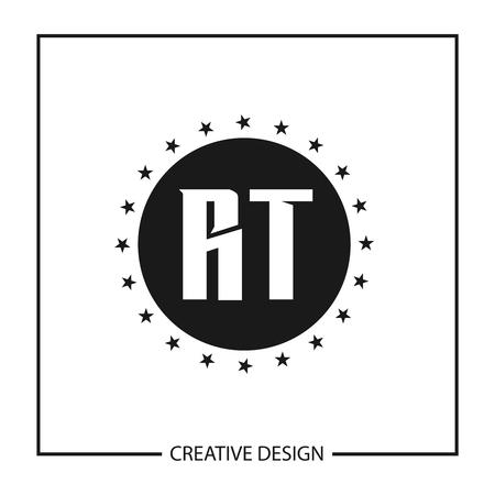 Initial Letter RT Logo Template Design Vector Illustration