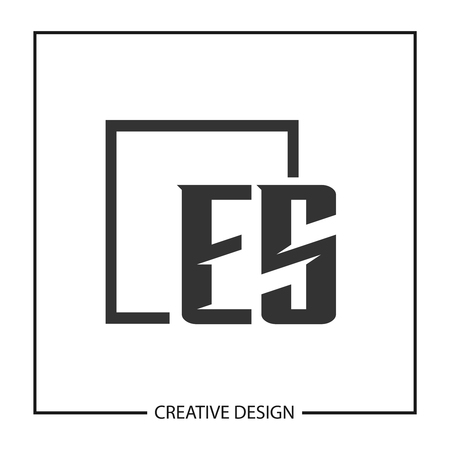 Initial Letter ES Logo Template Design Vector Illustration