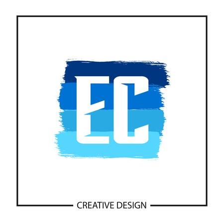 Initial Letter EC Logo Template Design Vector Illustration