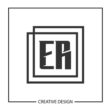 Initial Letter ER Logo Template Design Vector Illustration
