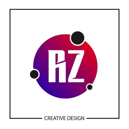 Initial Letter RZ Logo Template Design Vector Illustration