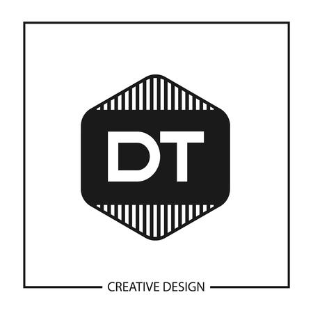 Initial Letter DT Logo Template Design Vector Illustration
