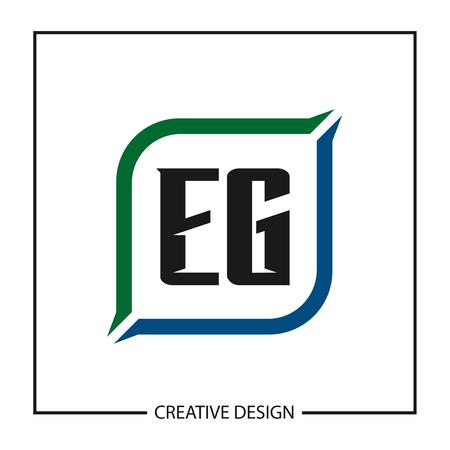 Initial Letter EG Logo Template Design Vector Illustration Ilustração