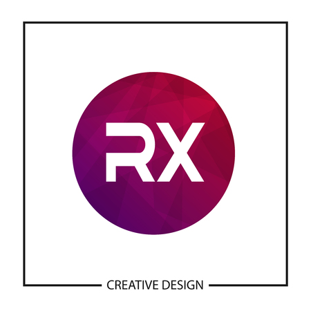 Initial Letter RX Logo Template Design Vector Illustration Logo