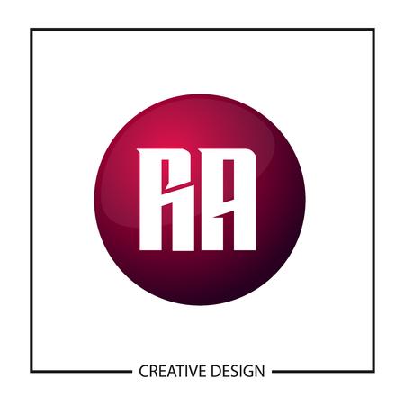 Initial Letter RA Logo Template Design Vector Illustration