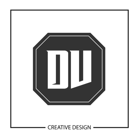 Initial Letter DV Logo Template Design Vector Illustration Logó