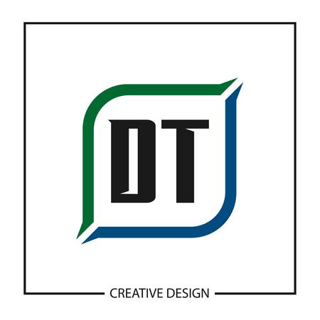 Initial Letter DT Logo Template Design Vector Illustration Logo