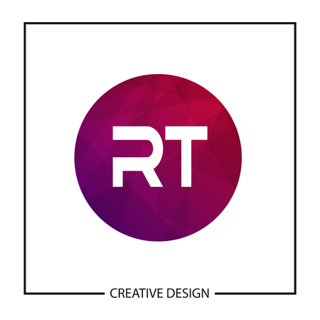 Initial Letter RT Logo Template Design Vector Illustration
