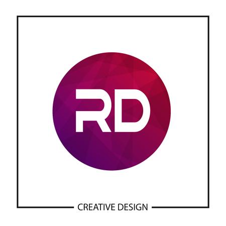 Initial Letter RD Logo Template Design Vector Illustration