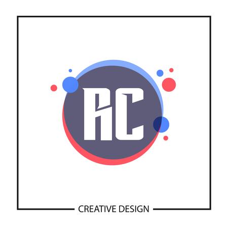 Initial Letter RC Logo Template Design Vector Illustration