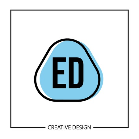 Initial Letter ED Logo Template Design Vector Illustration  イラスト・ベクター素材
