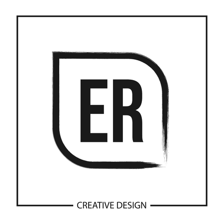 Initial Letter ER Logo Template Design Vector Illustration